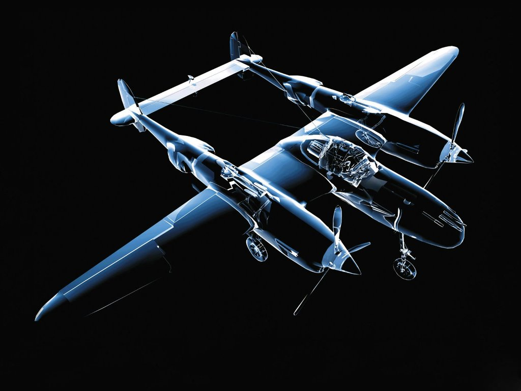 Abstract Wallpaper: Airplane 3D
