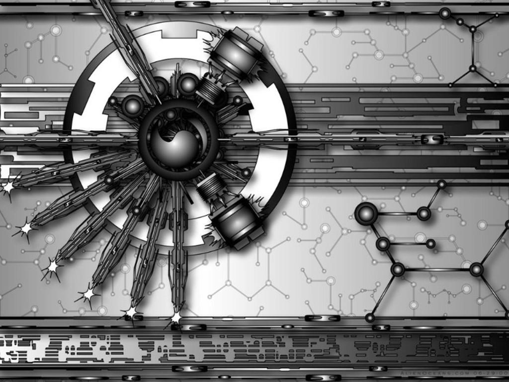Abstract Wallpaper: Alien Oceans