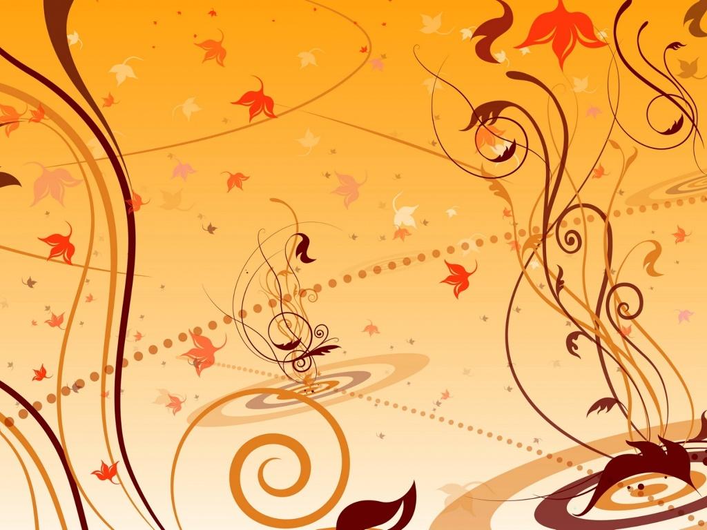 Abstract Wallpaper: Autumn Drops