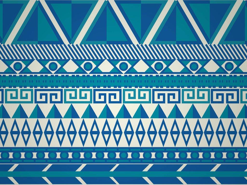 Abstract Wallpaper: Aztek Tribal