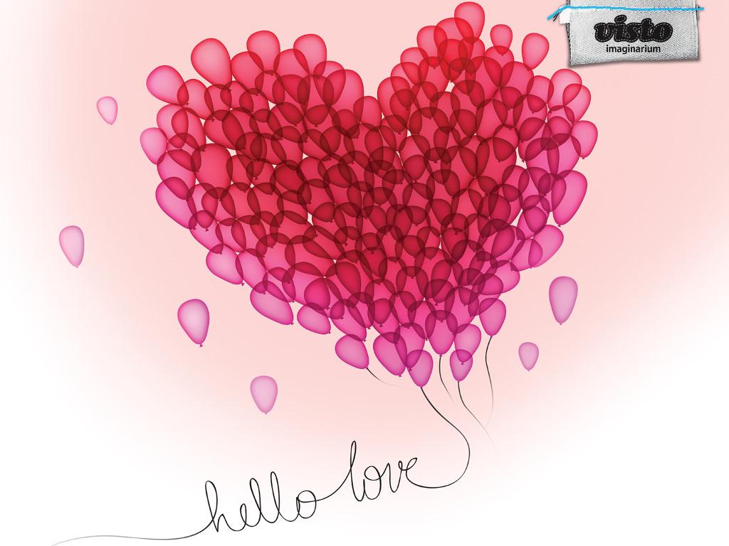 Abstract Wallpaper: Balloons - Love