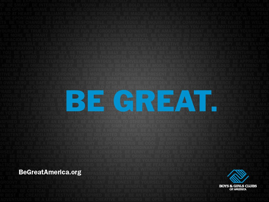 Abstract Wallpaper: Be Great