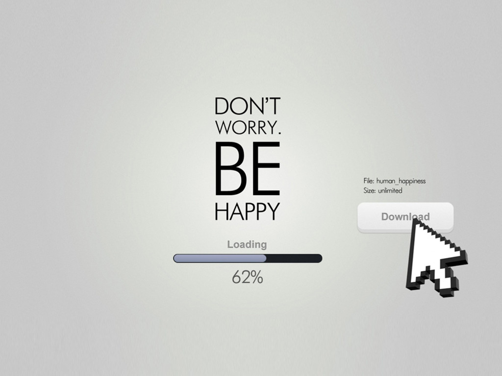 Abstract Wallpaper: Be Happy