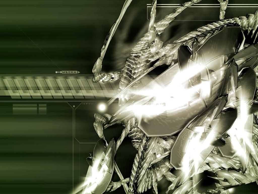 Abstract Wallpaper: Biomecha