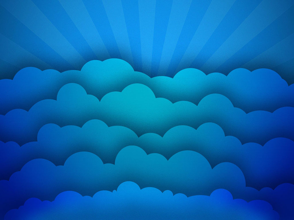 Abstract Wallpaper: Blue Clouds
