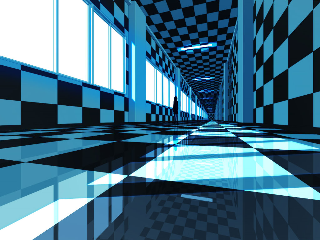 Abstract Wallpaper: Blue Perspective