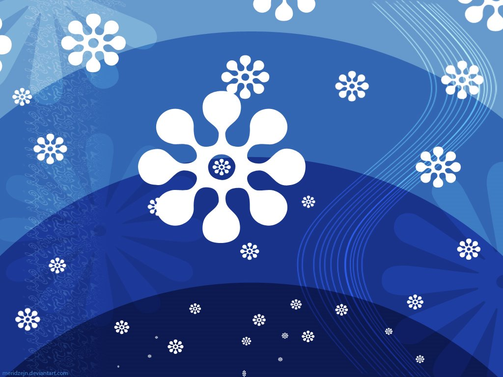 Abstract Wallpaper: Blue Snow