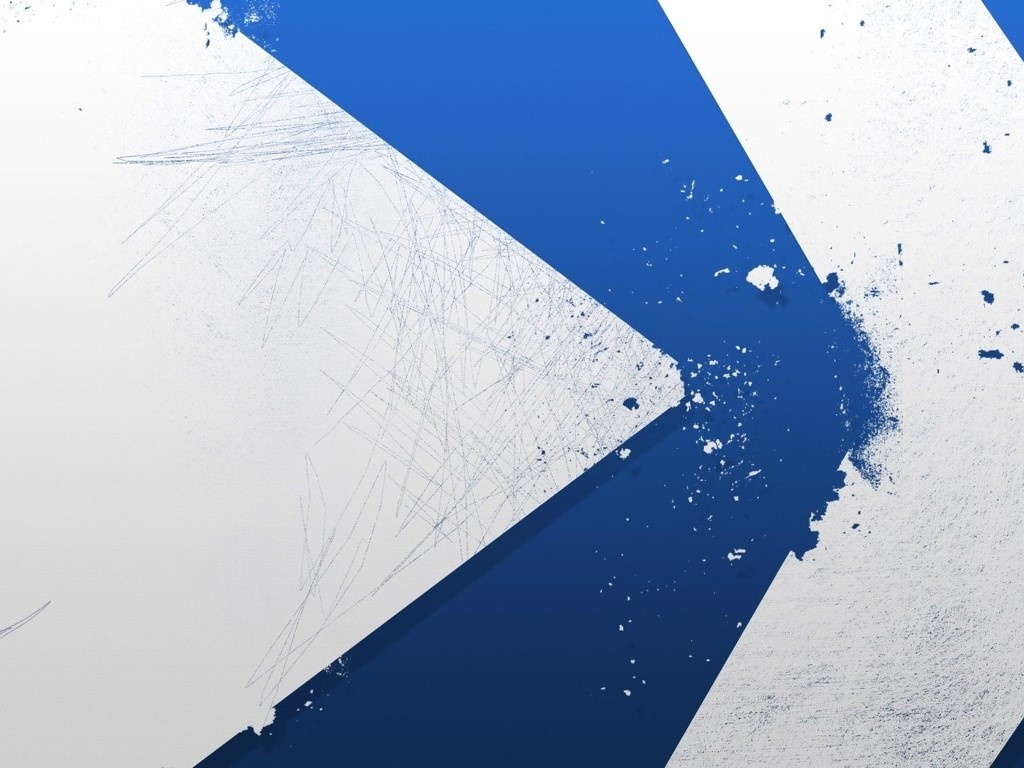 Abstract Wallpaper: Blue Strong