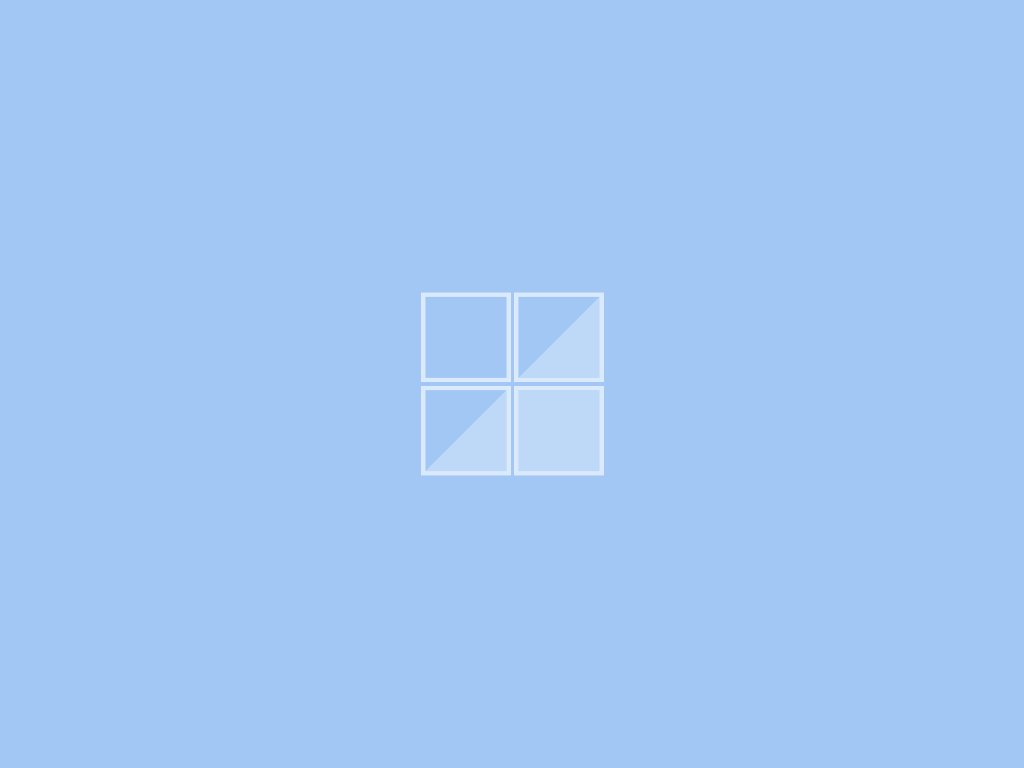 Abstract Wallpaper: Blue Window