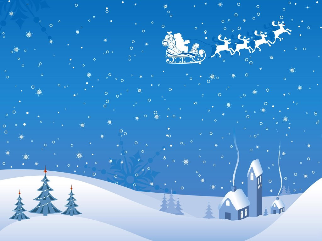 Abstract Wallpaper: Blue Christmas