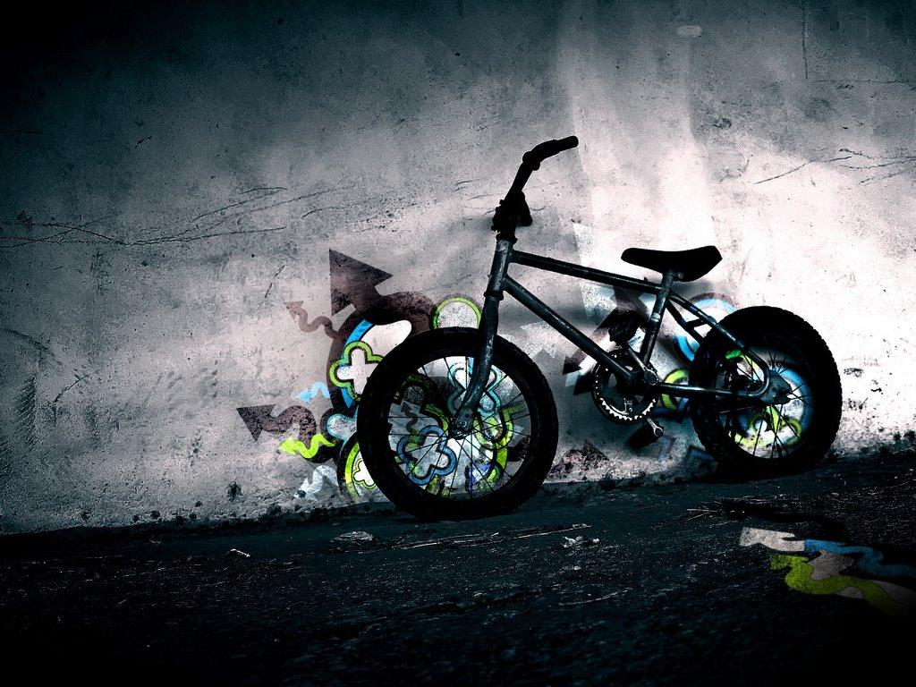 Abstract Wallpaper: BMX - Graffiti