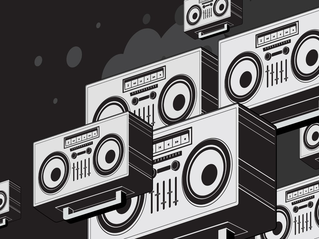 Abstract Wallpaper: Boombox