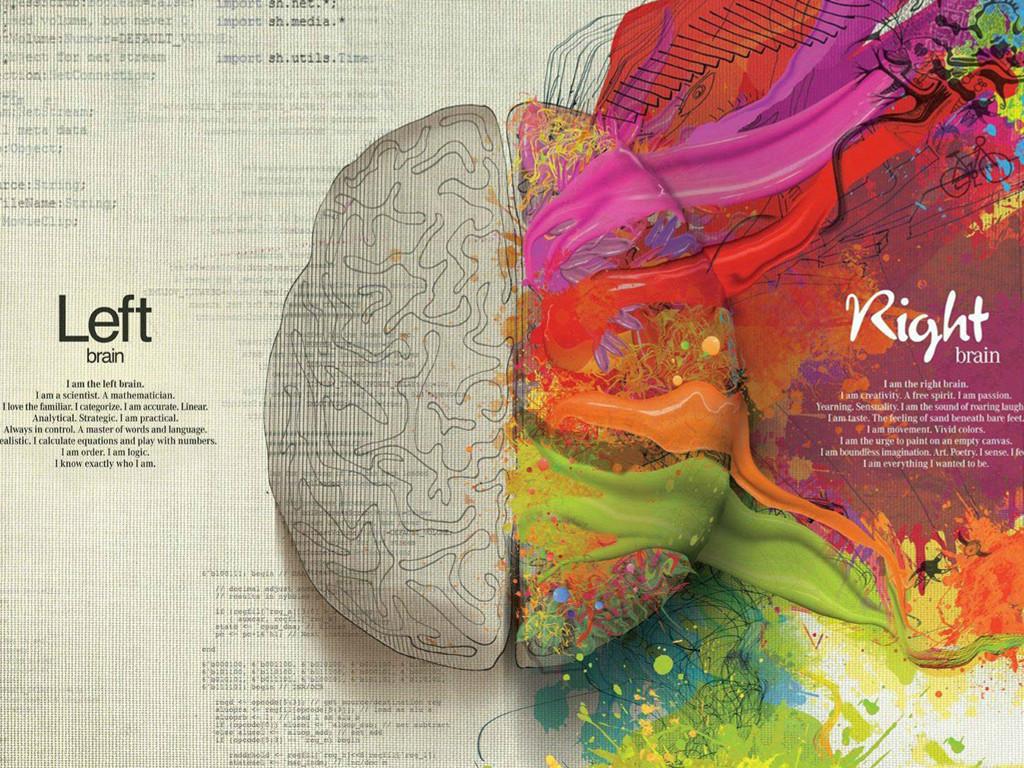 Abstract Wallpaper: Brain Hemispheres