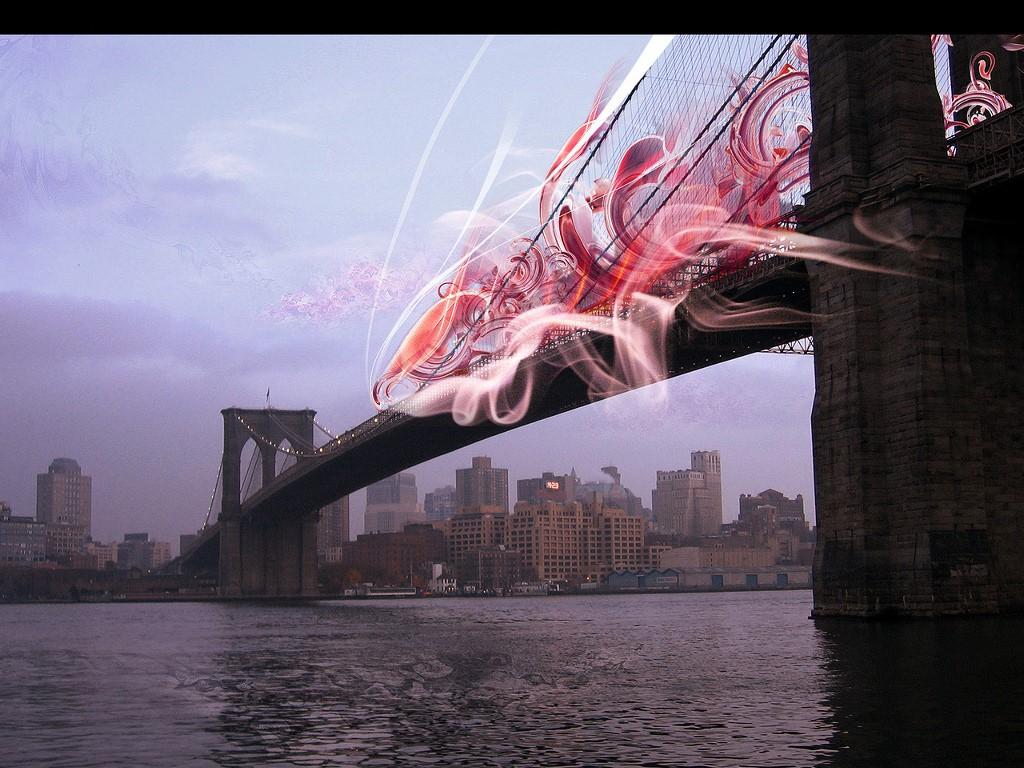 Abstract Wallpaper: Bridge Flux