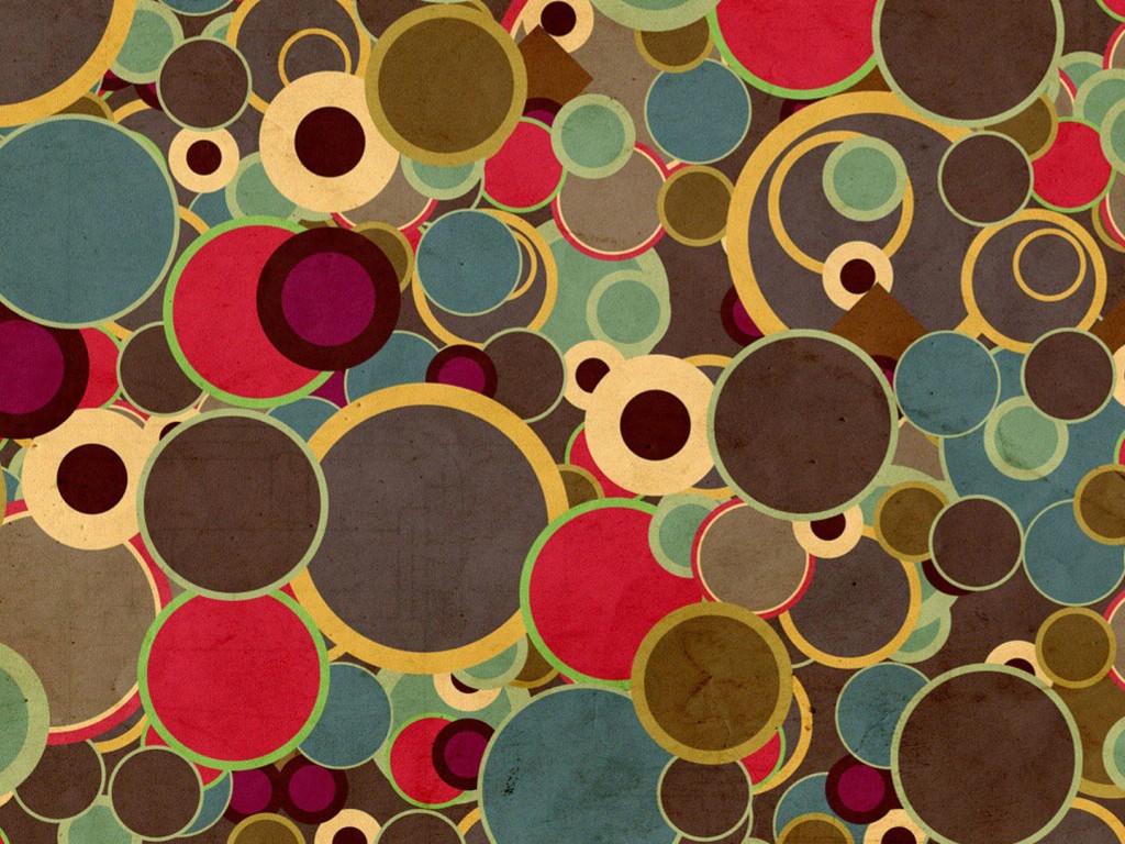 Abstract Wallpaper: Brown Circles