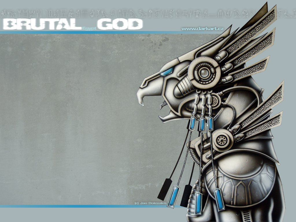 Abstract Wallpaper: Brutal God