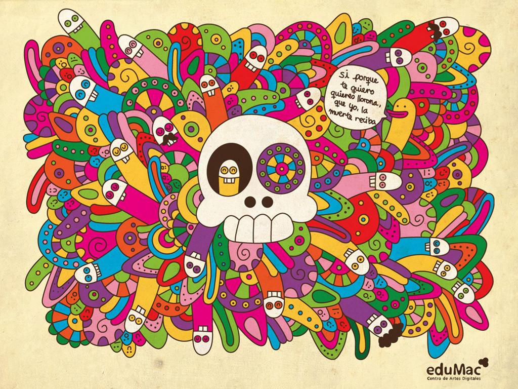 Abstract Wallpaper: Calaveras Mexicanas