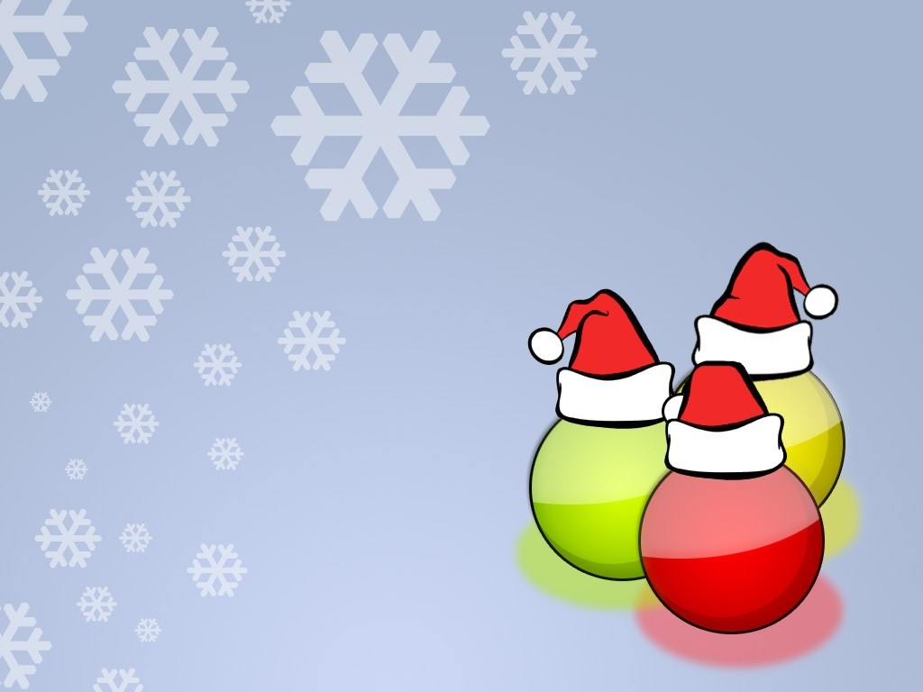 Abstract Wallpaper: Christmas Bubbles