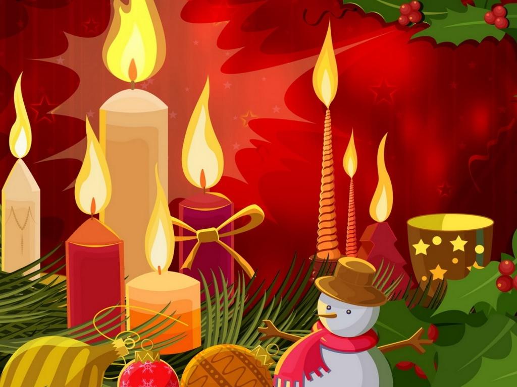 Abstract Wallpaper: Christmas - Candles