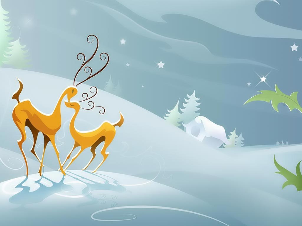 Abstract Wallpaper: Christmas - Deer