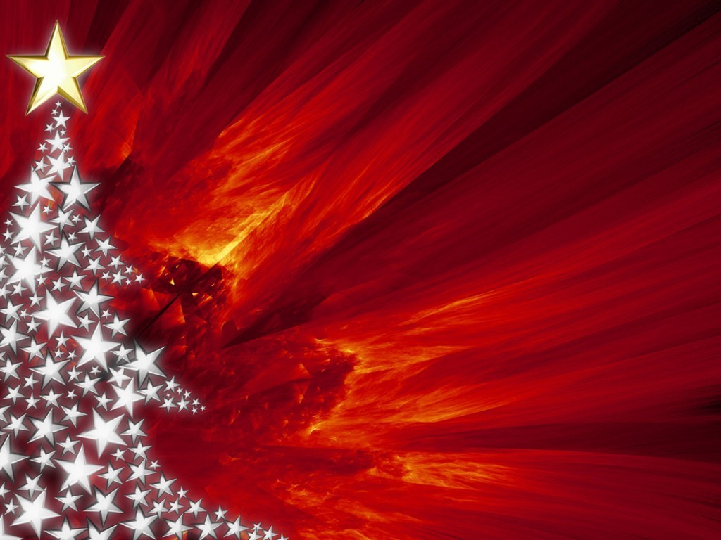 Abstract Wallpaper: Christmas Fire