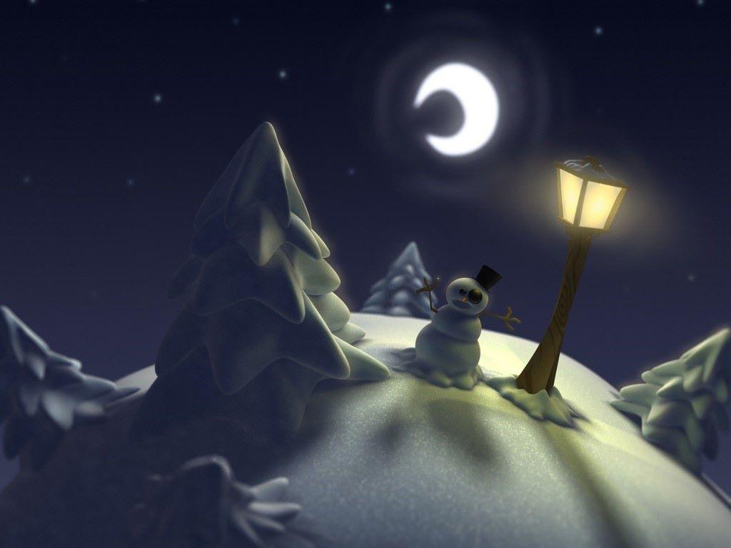 Abstract Wallpaper: Christmas - Snowman