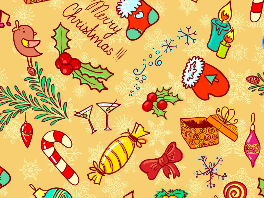 Abstract Wallpaper: Christmas - Stickers