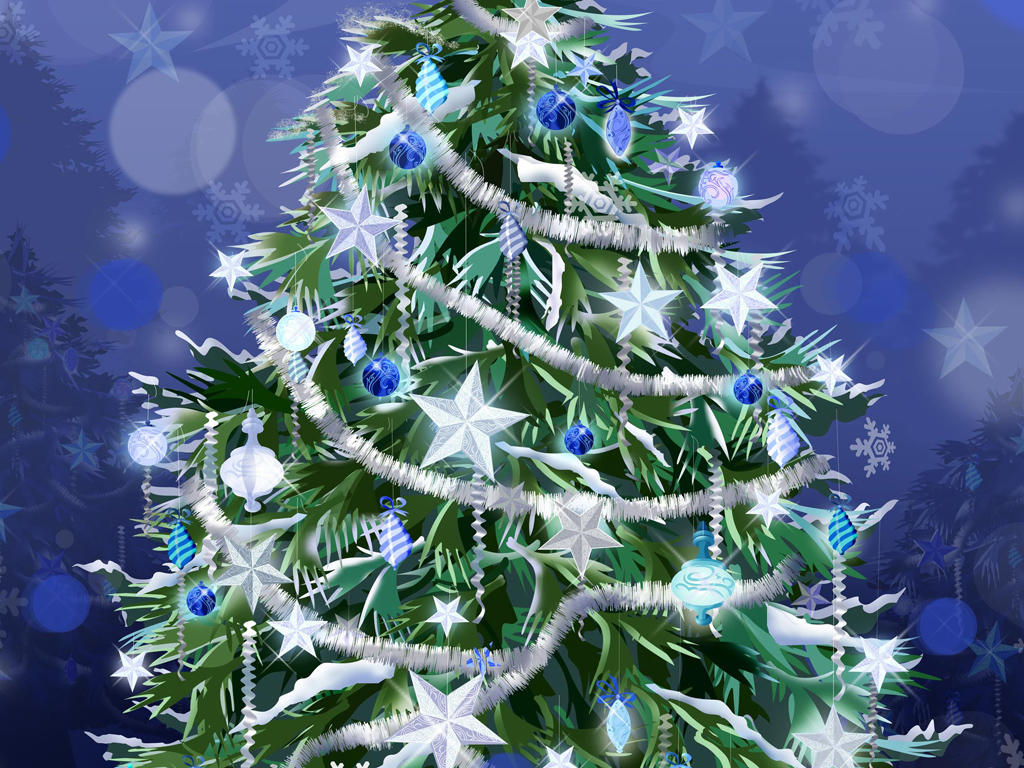 Abstract Wallpaper: Christmas Tree