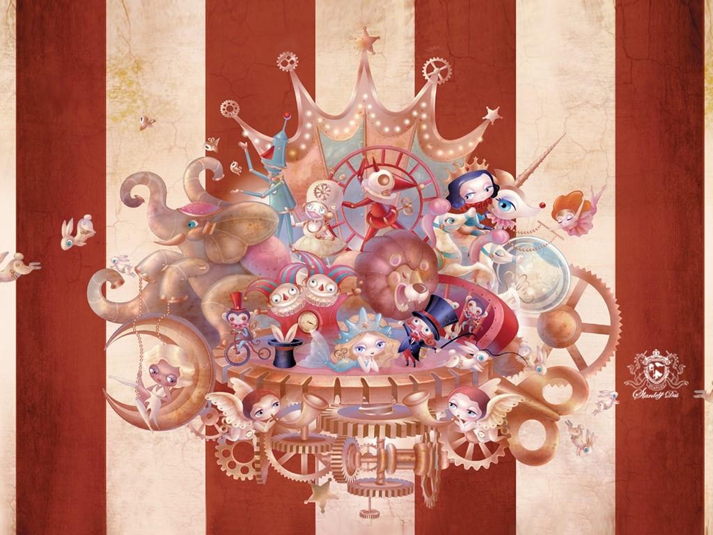 Abstract Wallpaper: Circus