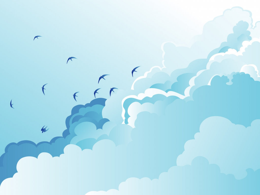 Abstract Wallpaper: Cloud and Birds