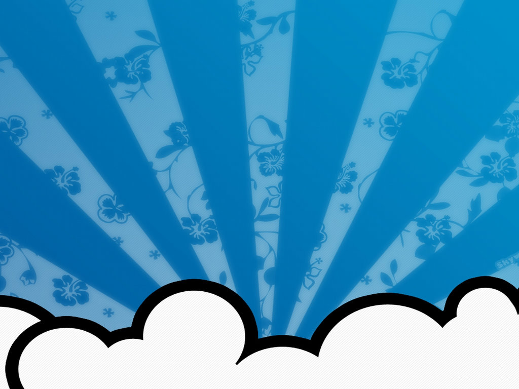 Abstract Wallpaper: Cloud Flowers