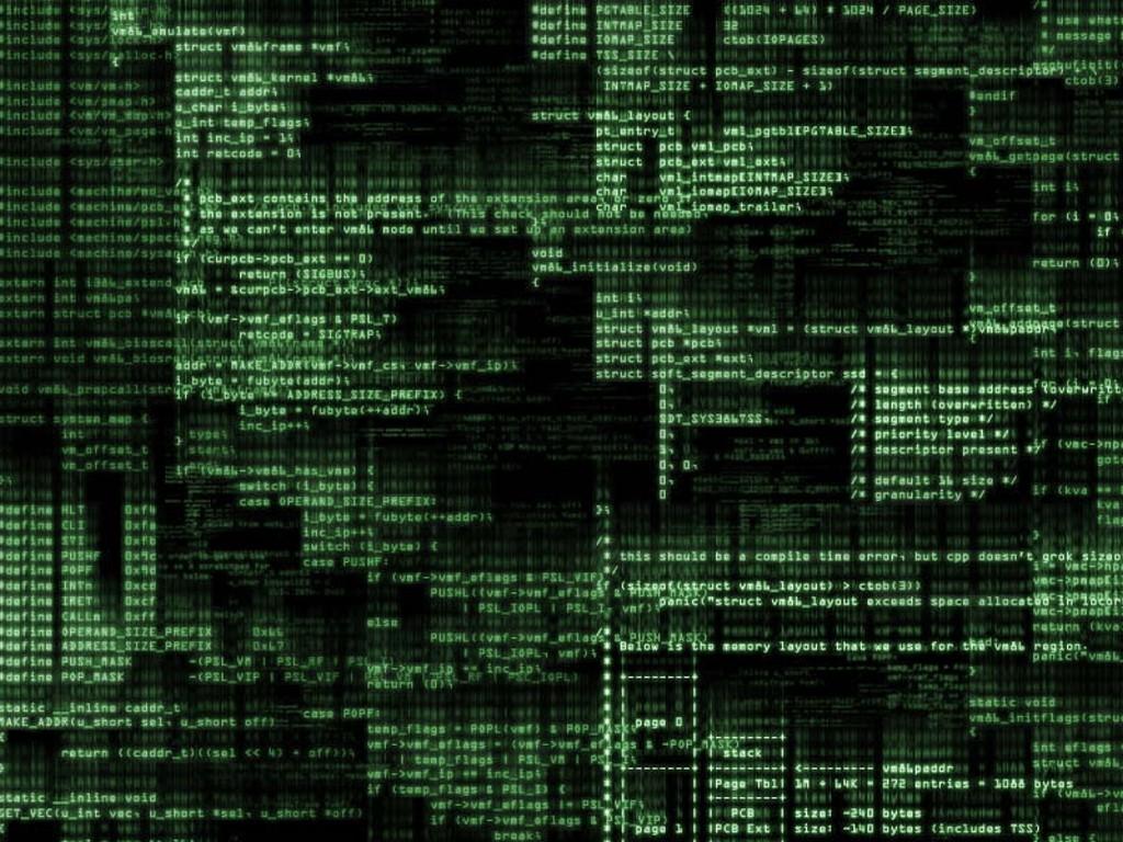Abstract Wallpaper: Code Matrix