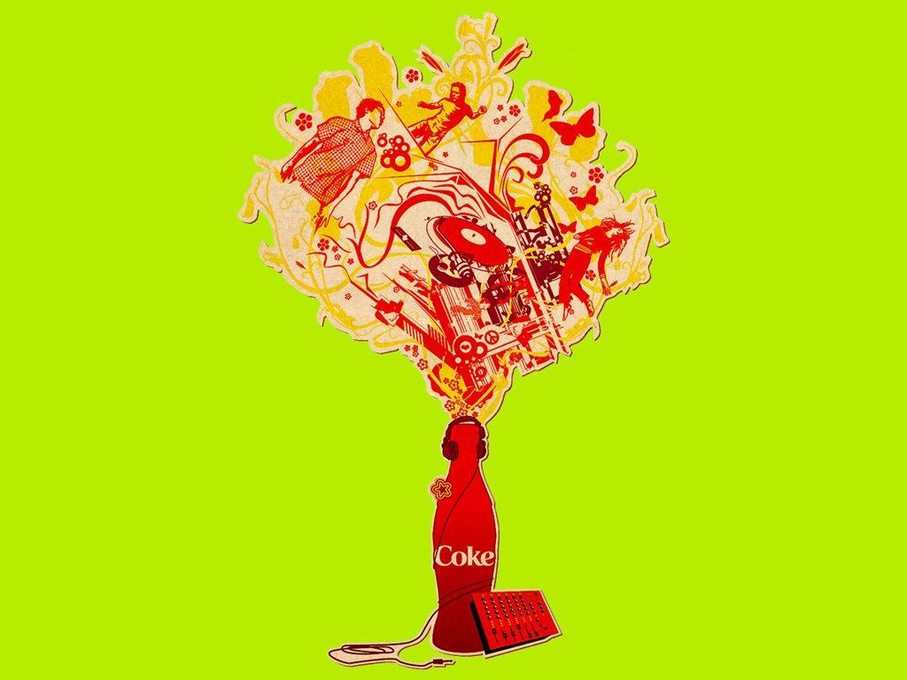 Abstract Wallpaper: Coke - Art Music