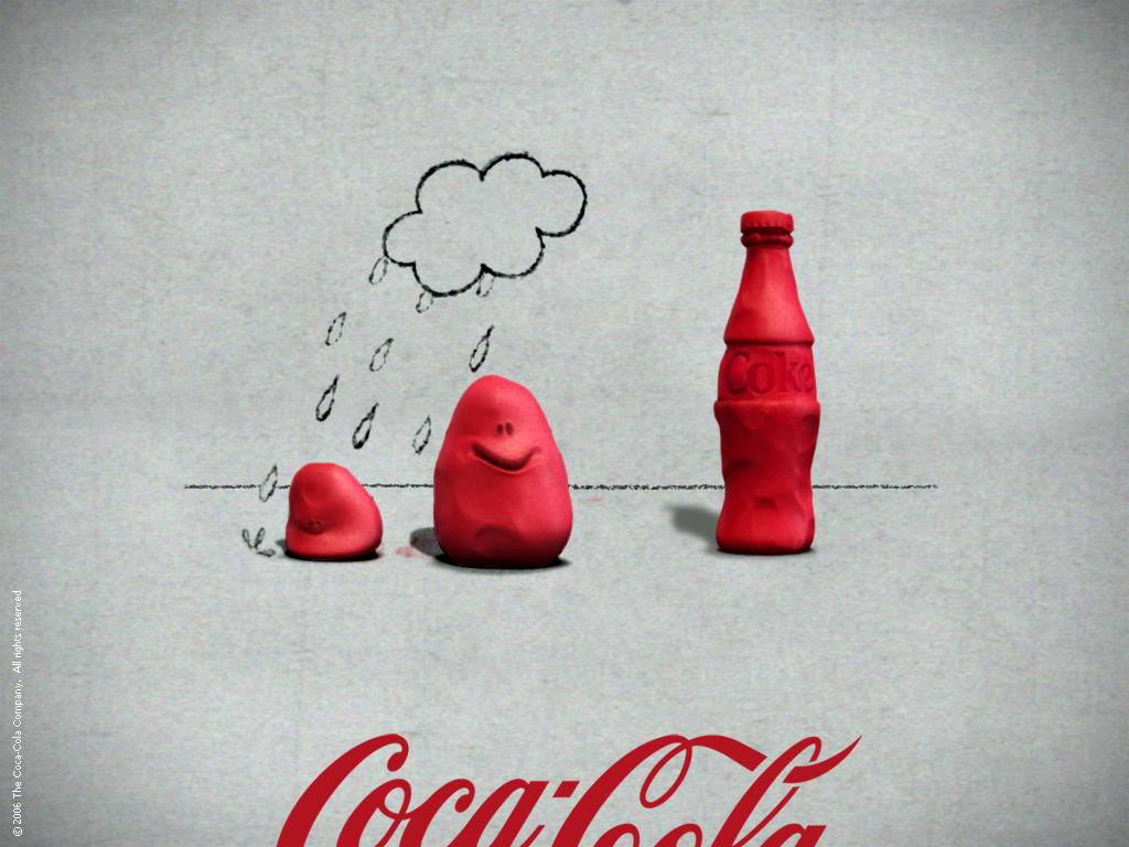 Abstract Wallpaper: Coke - Cloud
