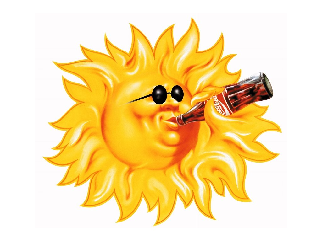 Abstract Wallpaper: Coke - Sun