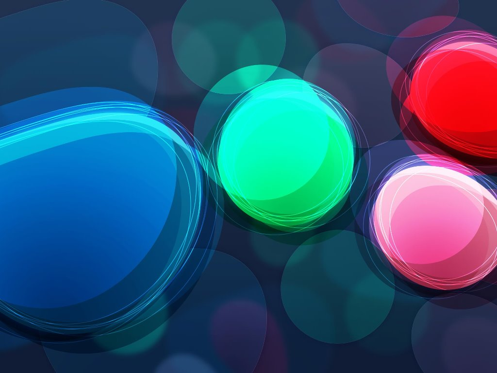 Abstract Wallpaper: Color Ellipses