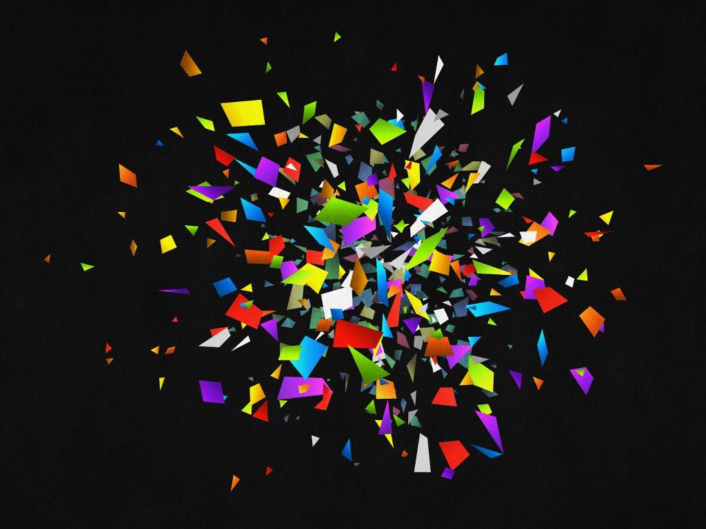Abstract Wallpaper: Colors Splash