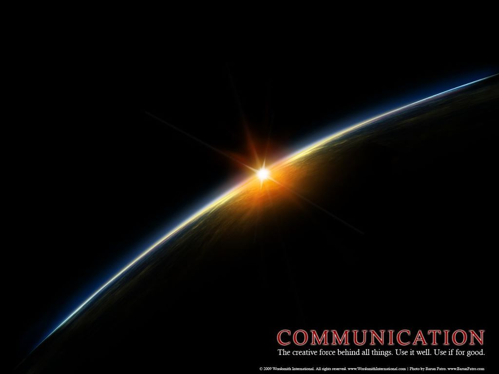 Abstract Wallpaper: Communication