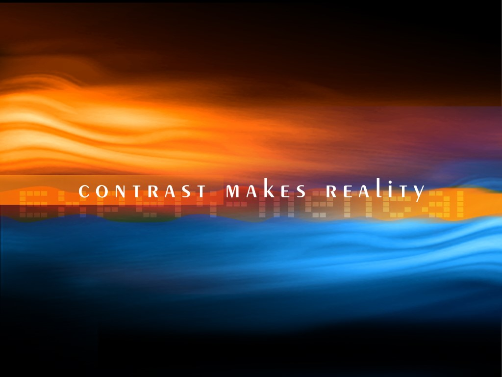 Abstract Wallpaper: Contrast Makes Reality