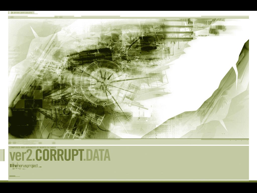 Abstract Wallpaper: Corrupt Data