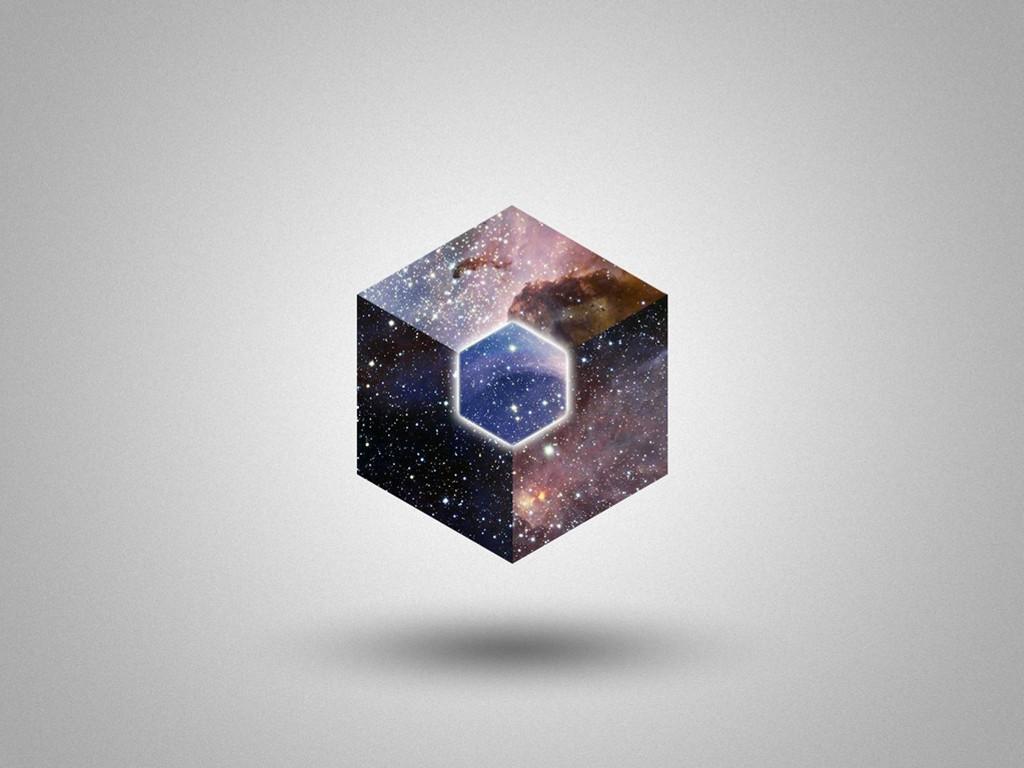 Abstract Wallpaper: Cosmic Hexagon