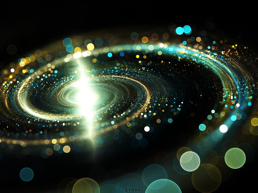 Abstract Wallpaper: Cosmic Spiral