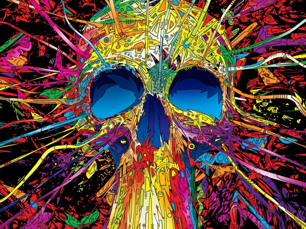 Abstract Wallpaper: Crazy Skull