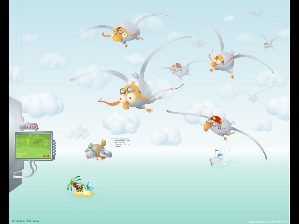 Abstract Wallpaper: Creazi Birds