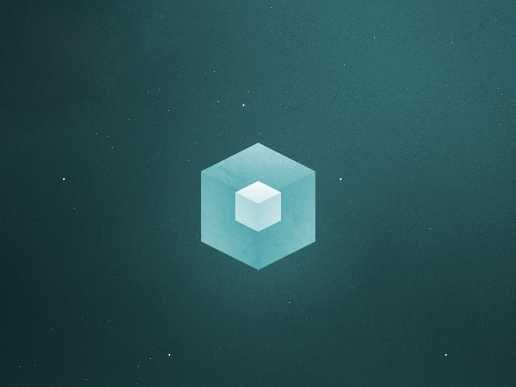 Abstract Wallpaper: Cube Inside