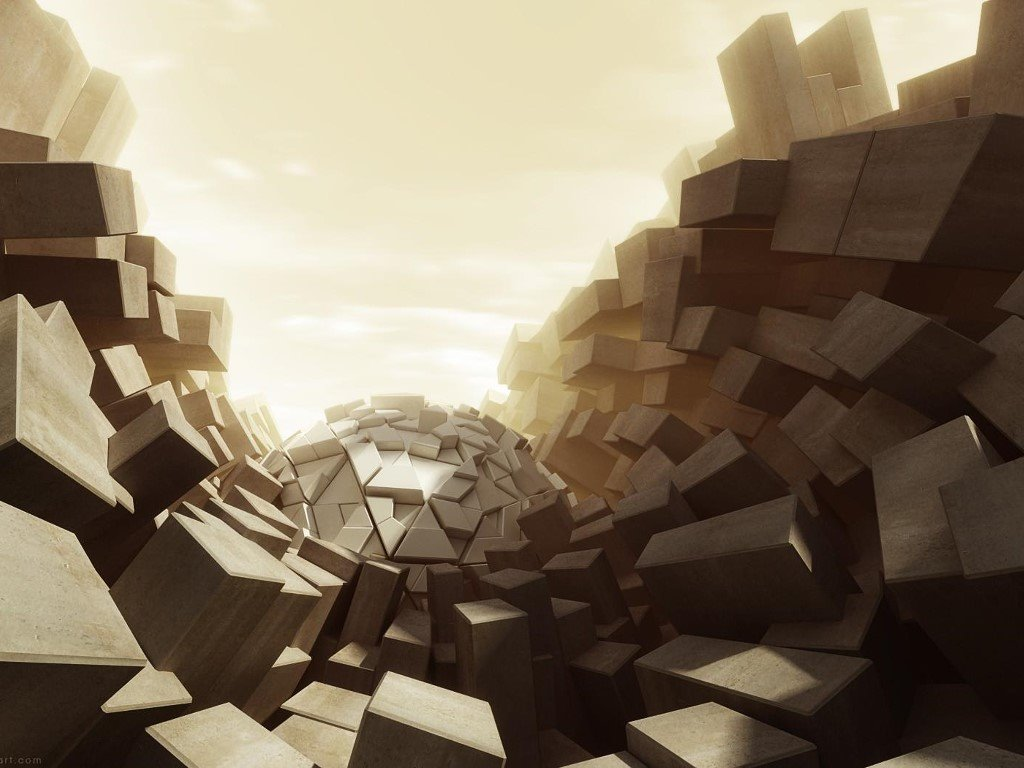 Abstract Wallpaper: Cube World