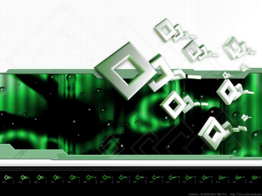 Abstract Wallpaper: Cubes Running