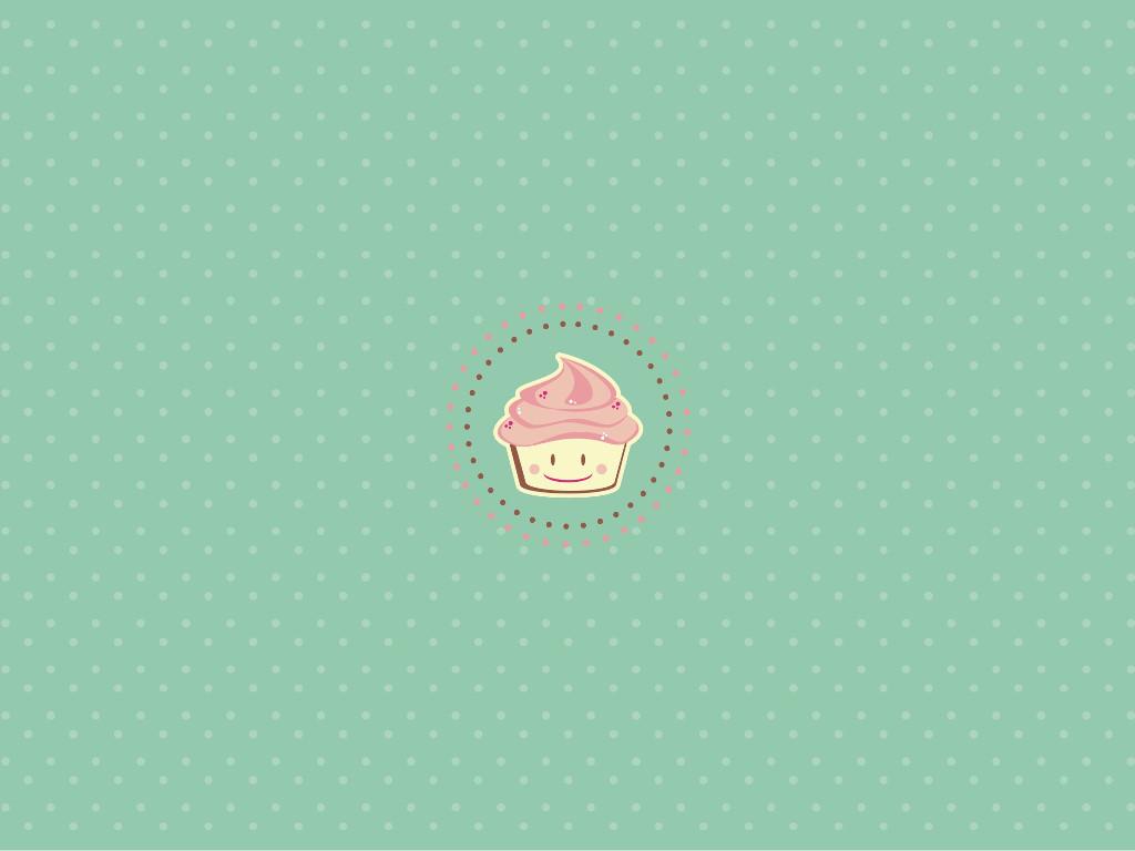 Abstract Wallpaper: Cupcake