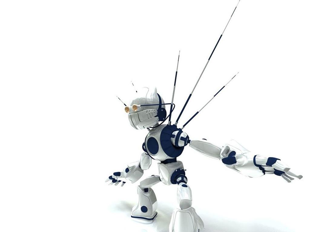 Abstract Wallpaper: Cute Little Bot
