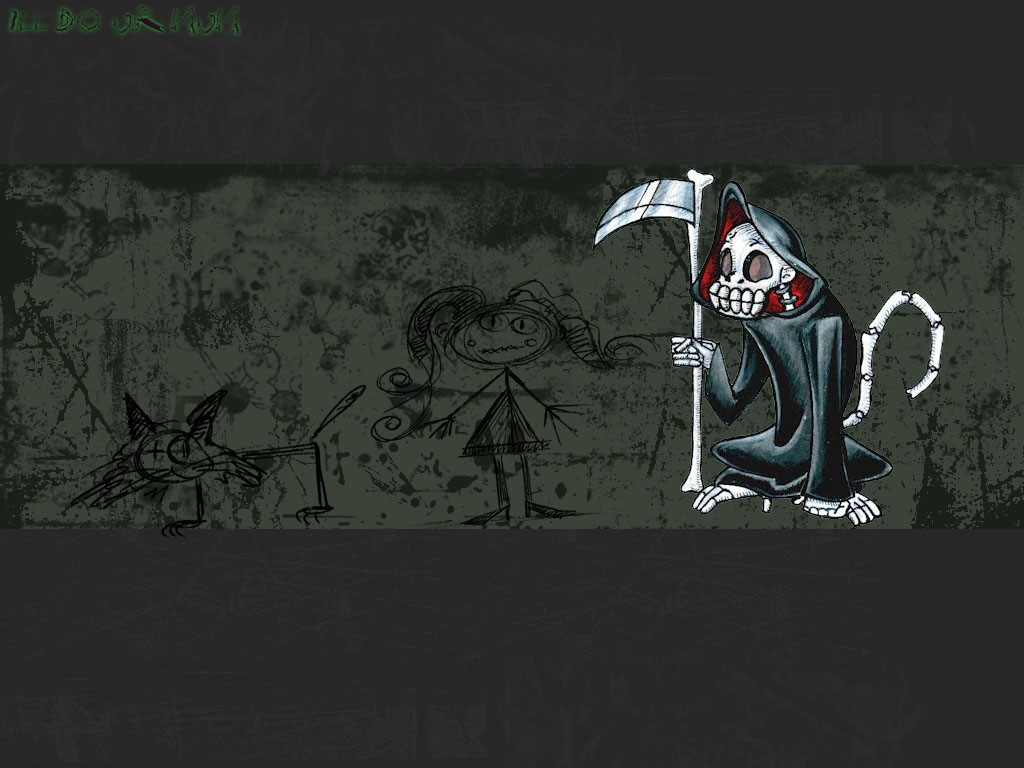 Abstract Wallpaper: Death Monkey